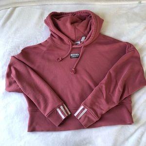 Adidas cropped pink hoodie!